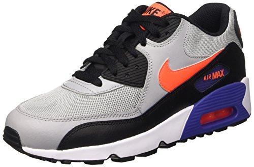 Nike Air Max 90 Mesh Gs, Entraînement de course mixte enfant Multicolore - Multicolore (Wlf Gry/Ttl Crmsn/Dk Prpl Dst)