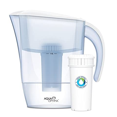 Aqua Optima White Anti-bacteria Filter Jug, as effective as boiling water (inc 90day Filter) AJ0100 Juno