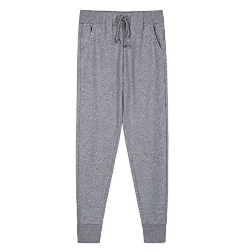 Ladies épais coton DrawString pants à la maison/ lâche un pantalon pyjama long pied / loisirs/ pantalon à la maison de confort E