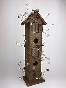 """Vogelhaus """"Doppelstock"""" 302042 Vogelhäuschen Nistkasten a. Holz zum Aufhängen oder Hinstellen"""