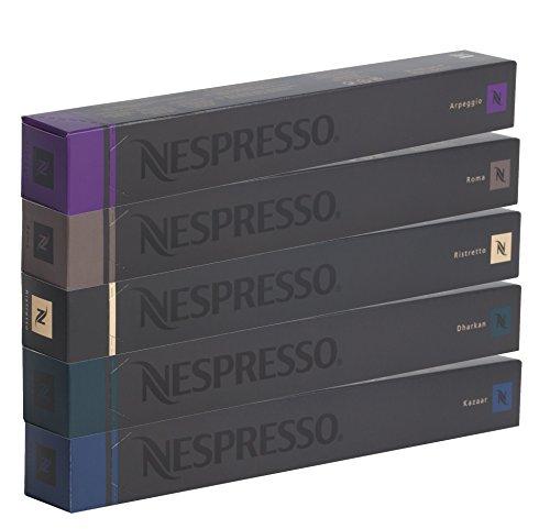 NESPRESSO-Capsule-Originali-Caffe-Assortimento-50-Capsule-10x-Roma-10x-Ristretto-10x-Kazaar-10x-Arpeggio-10x-Dharkan-compatibili-originali
