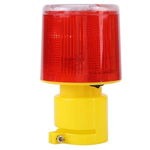 LED-Solarwarnlicht Superhelles Notfallwarnblitzlicht Rote Verkehrs-Straßen-Boots-Leuchtfeuer-Lampe, wasserdicht, umweltfreundlich, Lange Batterielebensdauer