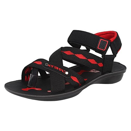 World Wear Footwear men's black canvas sandals-9  available at amazon for Rs.198
