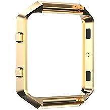 Protector/Accesorio Frame para Fitbit Blaze Relojes Inteligente - Aohro Metal de Acero inoxidable Titular Marco Shell para Fitbit Blaze Smart Watch - Oro
