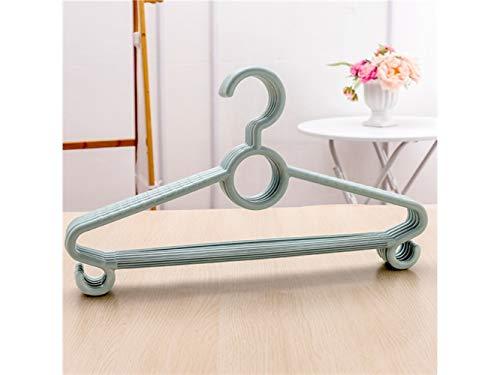 HFjingjing Kleiderhaken Packung mit 5 Kunststoff Rutschfeste Wäscheständer Erwachsene multifunktionale Kleiderbügel (blau) Platzsparender Aufhänger