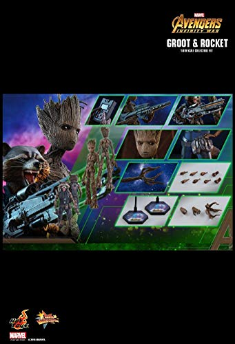 Hot Toys MMS476 - Marvel Comics - Avengers 3 : Infinity War - Groot & Rocket VIP