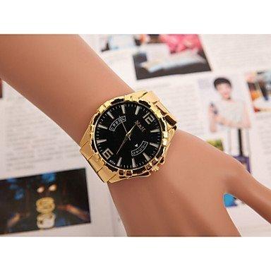 Fenkoo Herrenuhren Europa und die Vereinigten Staaten den Verkauf von gefälschten Schweizer Quarz-Kalender Hand Uhr mit Gold-Legierung
