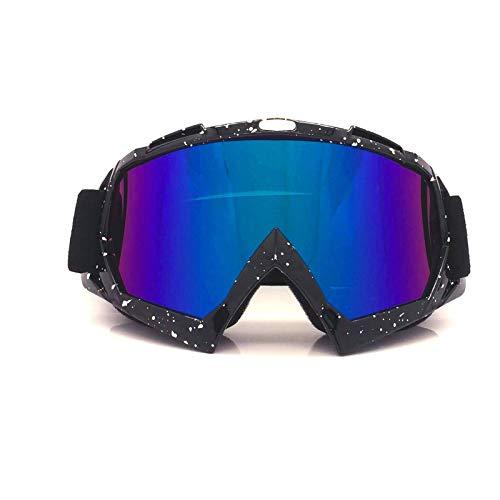 Aeici Sportbrille TPU+PC Brillenträger Damen Motorradbrille Brillenträger Schwarz Weiß Bunt