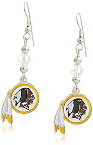 NFL Washington Redskins Crystal Dangle Earrings