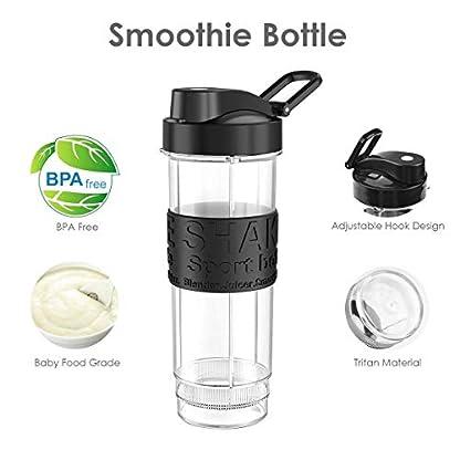 Smoothie-Flaschen-FOCHEA-Mixer-Smoothie-Maker-TrinkflascheTritan-flascheWasserflasche-570ml-BPA-frei-fr-Shake-Smoothie-Maker