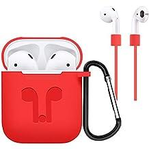 Cubierta protectora de la caja del silicón del auricular para los accesorios del auricular de Apple