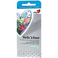 RFSU Birds`n Bees - 10 grüne Kondome mit Rippen und Noppen preisvergleich bei billige-tabletten.eu