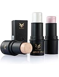 1x Maquillaje Facial De Belleza Barra Contorno De Crema Para Cara En Polvo Brillo Destacado - 1 # 2 # 3 #, 6.5 * 2.8 * los 2.8CM
