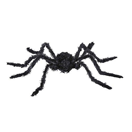 rte Spinne, schwarz, 90 cm (Schwarze Kunststoff-spinnen)