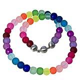 Bella Carina Creativ Glasperlen Kette bunt regenbogen Farben matt (bunt)