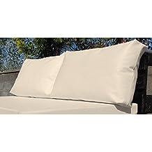 Muebles-exterior 02 - Pack de cojines respaldo para palet, 60 x 20 x 46 cm, color crudo