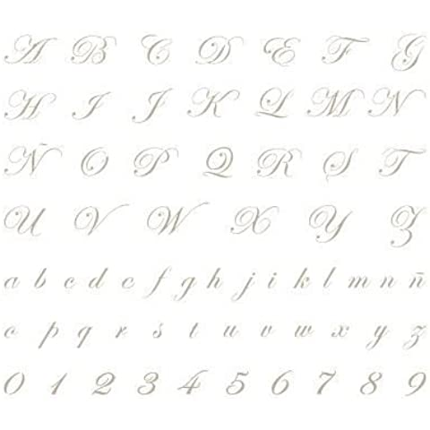 Stencil Abecedario Mini 005. Medidas aproximadas:Tamaño del stencil 12 x 12(cm) Altura M mayúscula 1.4 x 0.7(cm) Altura M minúscula 0.6 x
