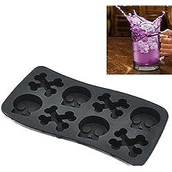 Calavera molde de silicona molde Herramientas de hielo molde de chocolate de hielo bar Lovely congelación color al azar DIY