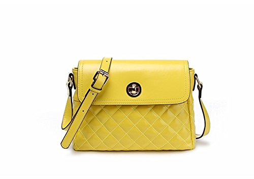 PACK Messenger Bag Europe E Gli Stati Uniti Ladies Small Borse Candy Color Trend Shoulder Casual Bag,A:Yellow A:Yellow