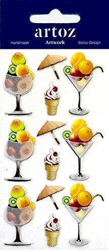 Eis Kegel Für (Eis Zapfen und Sorbet Cocktail Craft Verzierung–Fun Scrapbooking Karte Aufkleber)