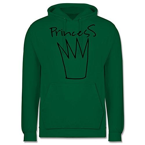 Statement Shirts - Princess Krone - Männer Premium Kapuzenpullover / Hoodie Grün