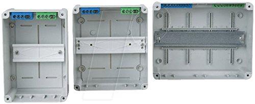 f-tronic Aufputz-Kleinverteiler IP55, 4 Module mit Kabeleinführung M20, weiß, KV04WDKE