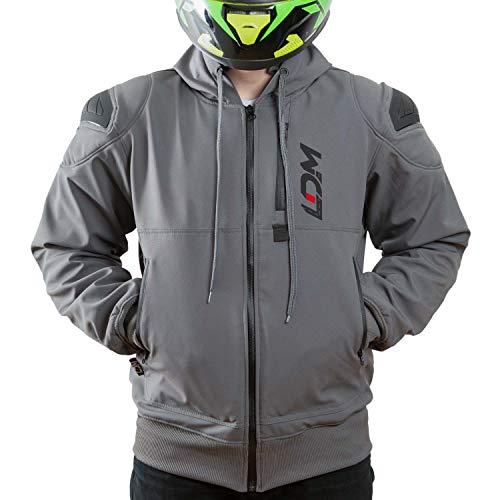 Ldm exoflex giacca da moto con cappuccio impermeabile in kevlar protezioni omologate ce rivestimento dupont™ kevlar® giacca invernale