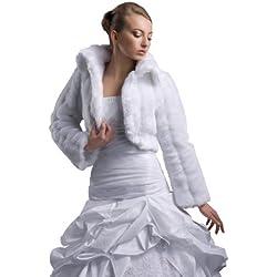 Chaqueta para vestido de novia, imitación de visón