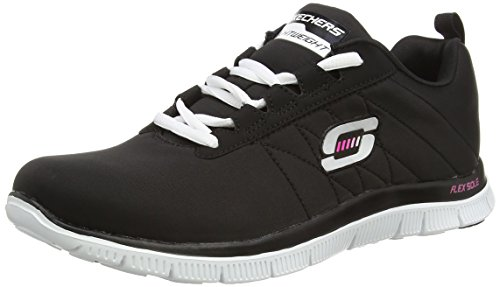 Skechers Flex Appeal Next Generation, Baskets basses femme Noir (bkw)