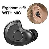 Bluetooth Headset, 3,8g V4.1 Mini Bluetooth Headset Wireless Earbuds für Podcasts, Audio Books, GPS mit Mikrofon für Smartphones,Android, PC und andere Bluetooth Geräte von AngLink (Rechtes Ohr)
