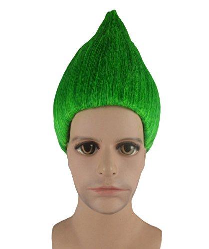 Trolle Film Cosplay Kostüm Perücke grün anhm-089uk (Erwachsenen Beliebtesten Kostüme)