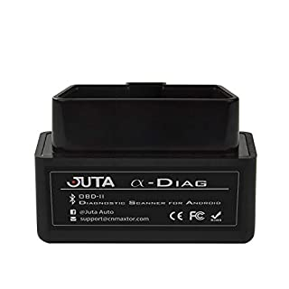 Juta α-Diag Bluetooth OBD2 Scanner OBDII Code-Lesegerät Diagnoseinterface Auto Tool nur für Android