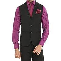 ManQ Men's Single Breast Three Button Slim Fit Formal/Party Waist coat