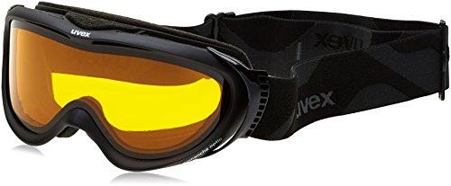Occhiali da sci Uvex Comanche, Nero Opaco/LGL, taglia unica, S5510924229