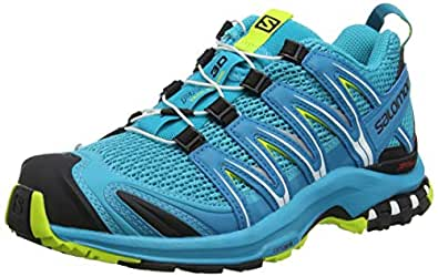 Salomon Damen XA Pro 3D W, Trailrunning-Schuhe, blau (bluebird / caneel bay / acid lime), Größe 36