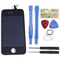 eInc™ Touchscreen di ricambio per Nero Apple iPhone 4 GSM scala A1332 Touch Screen Digitizer e la corona Display LCD + Kit di attrezzi per