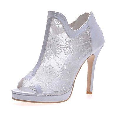RTRY Donna Primavera Estate Autunno Lace Party Di Nozze &Amp; Sera Stiletto Heel Nero Rosso Bianco Avorio US7.5 / EU38 / UK5.5 / CN38