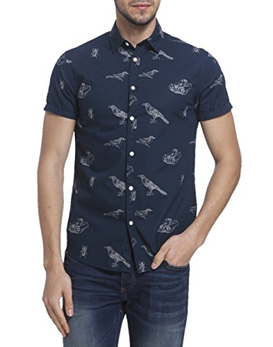 Jack & Jones Men's Casual Shirt (5713025580970_12108605_ Small_Navy Blazer)  available at amazon for Rs.1536