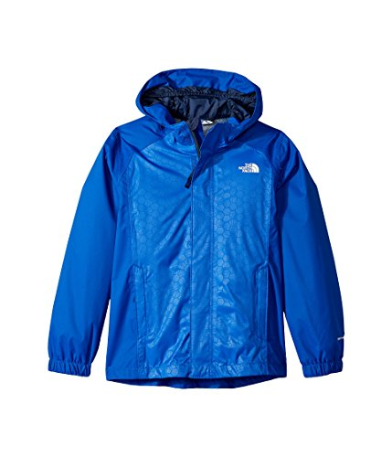 The North Face Boy's Women's Resolve Reflective Jacket - Bright Cobalt Blue Hex Emboss - L (Past Season)