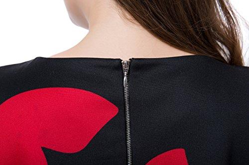 Chicwe Robe Femmes Grande Taille Retour Métal Zip Papillon EU44-60 Noir