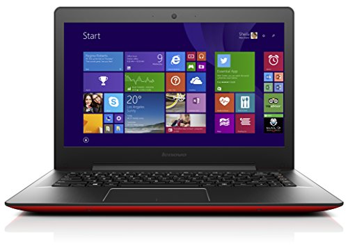 Lenovo U41-70 35,6 cm (14 Zoll Full HD Matt) Ultrabook (Intel Core i5-5200U, 2,7GHz, 8GB RAM, 256GB SSD, Intel HD Grafik, Windows 8.1) rot