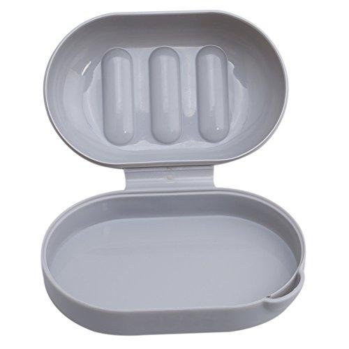 Gluckliy Entleerende Seife Aufbewahrungsbox Fall Badezimmer Zubehör Werkzeug Reise Seife Dish Organizer Halter -