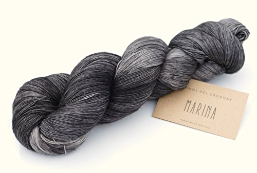 Manos del Uruguay Marina Fb. N7593 - Steampunk, 100g Lace Merino Wolle handgefärbt mit wunderschönem Farbverlauf -