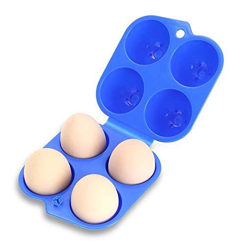 Eier Carrier Container Tragbar Ostern passende Slot Tray Holder Shockproof Box Storage Case für Outdoor Camping 4 Eier -