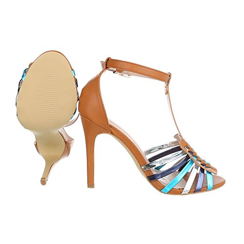 Ital-Design - Scarpe con plateau Donna Camel Multi