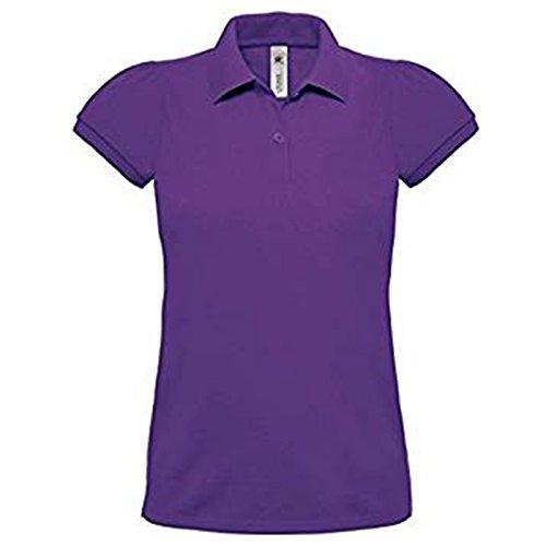 B&C Collection Damen Modern T-Shirt Gr. XL, violett (Pocket Shirt Knit Striped Pique)