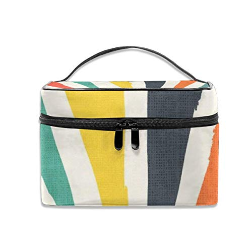 Kosmetiktasche, Make-up Tasche, Rainbow ray Portable Travel Makeup Bag Cosmetic Organizer Tote Bag for Women Girls