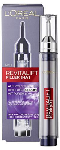 L'Oréal Paris Hyaluronsäure Serum hochkonzentriert, Anti-Aging Gesicht, Revitalift Filler Hyaluron Gesichtsserum, 16ml