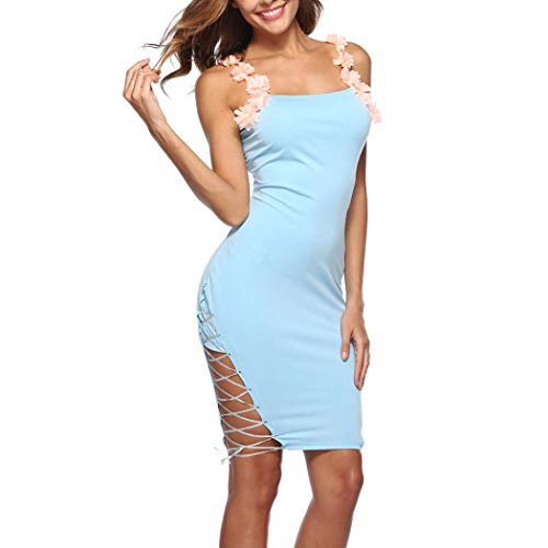 (UONQD Bluse Damen Langarm Chiffon V- Ausschnitt Oberteile Hemd Freizeit Tunika Ärmel Verstellbar Tops(EU-40/CN-L,Blau))