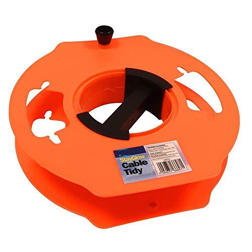Mp essential - cavo di prolunga per cavo di alimentazione da campeggio, roulotte, camper, fino a 25 m, colore: arancione fluo
